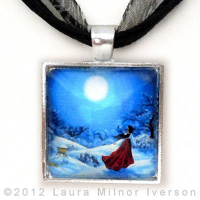 Snow Like Stars Handmade Pendant Original by Laura Iverson