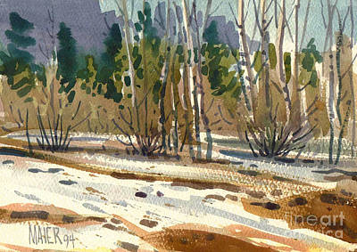 Yosemite National Park Painting - Snow Melt by Donald Maier