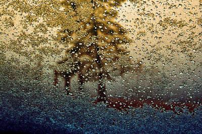 Snow On My Window Print by Ellen Heaverlo