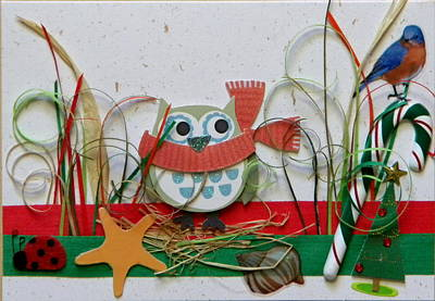 Gracie Mixed Media - Snow Owl by Gracies Creations