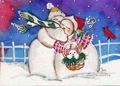 Snow People Print by Sylvia Pimental