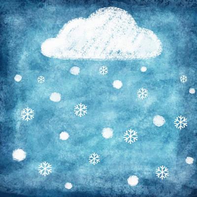 Snow Winter Print by Setsiri Silapasuwanchai
