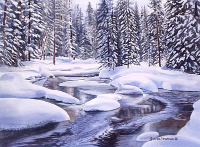 Snowbound Print by Sharon Freeman
