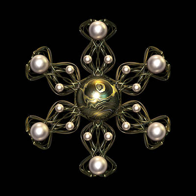 Symmetry Digital Art - Snowflake Jewel by Hakon Soreide