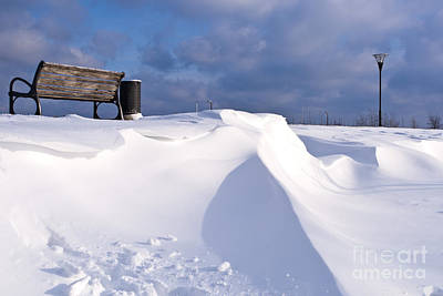 Wintry Landscape Photograph - Snowy Day by Heiko Koehrer-Wagner