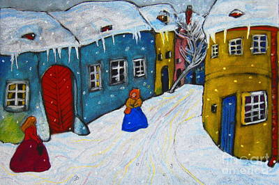 Negis Painting - Snowy Evening by Rosemarie Glennon Kliegman