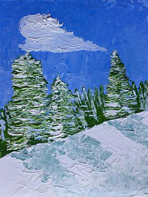 Snowy Pines Print by Heidi Smith