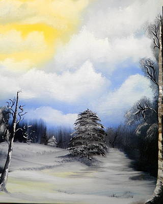 Painting - Snowy Sunshine by Amity Traylor