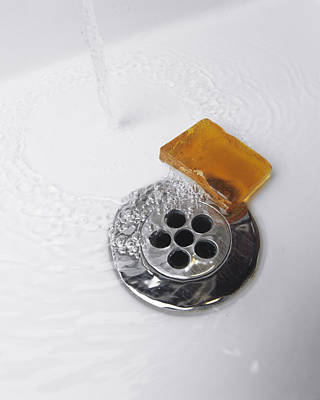 Ceramic Sinks Photograph - Soap And Water by Carlos Dominguez