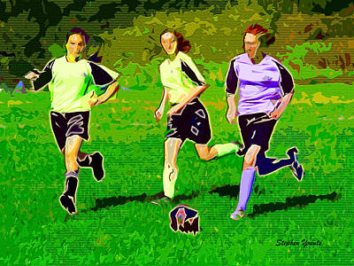 Soccer Print by Stephen Younts