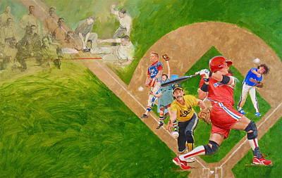 Softball Mixed Media - Softball by Cliff Spohn