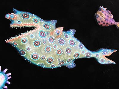 Palmfish Sculpture - Sold Melvin The Megabite by Dan Townsend