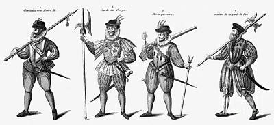 Soldiers, 16th Century Print by Granger