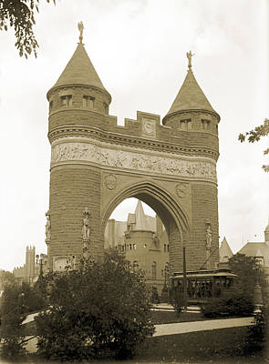 Soldiers And Sailors Arch Hartford 1886 Original by Jan W Faul