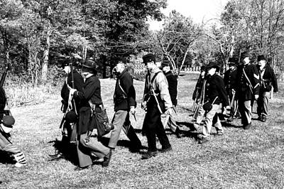 Gun Photograph - Soldiers March Black And White by LeeAnn McLaneGoetz McLaneGoetzStudioLLCcom