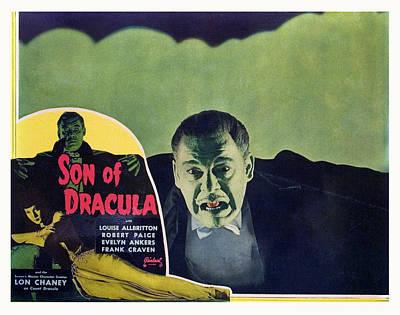 Son Of Dracula, Lon Chaney, Jr., Inset Print by Everett