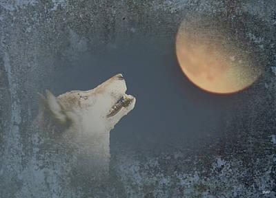 Wild Wolf Mixed Media - Song To The Moon by Debra     Vatalaro