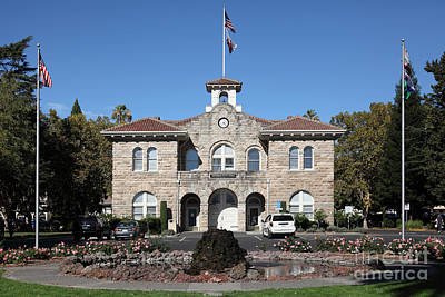 Sonoma City Hall - Downtown Sonoma California - 5d19260 Print by Wingsdomain Art and Photography
