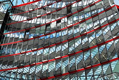 Fenster Photograph - Sony Center - Berlin by Juergen Weiss