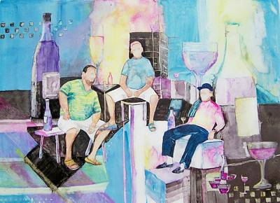 Italian Wine Painting - Sorrento Dock by Regina Ammerman