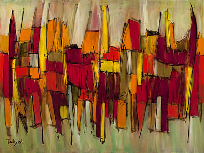 Abstract Painting - Sound And Fury Four by Lynne Taetzsch