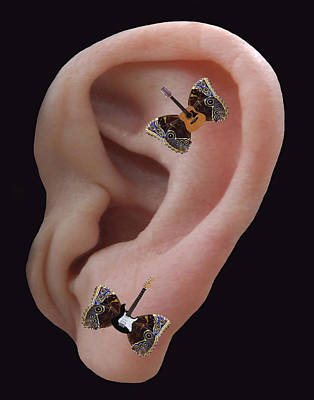 Lepidopterans Digital Art - Sound Blaster Rocks by Eric Kempson