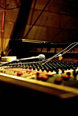 Mic Check Photograph - Sound Check by Dillon Mathis