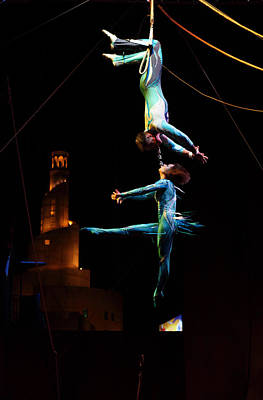Trapeze Artist Photograph - Souq Waqif Show by Paul Cowan