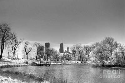 South From Lincoln Park Lagoon Print by David Bearden