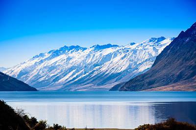 South Island Lake Wanaka New Zealand Print by John White