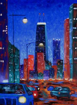 South On Clark Street Original by J Loren Reedy