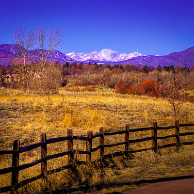 South Platte Park Fenceline  Print by David Patterson