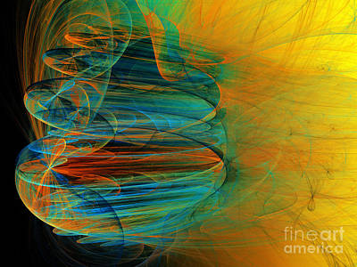 Oranges Digital Art - South Western Influence by Andee Design