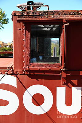 Old Caboose Photograph - Southern Pacific Caboose - 5d19235 by Wingsdomain Art and Photography
