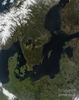 Southern Scandinavia Print by Stocktrek Images
