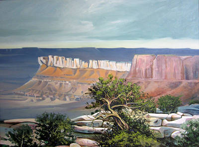 Pinion Painting - Southern Utah Butte by Matthew Chatterley