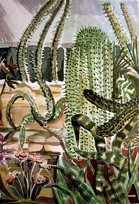 Phoenix Drawing - Southwest Garden by Mindy Newman