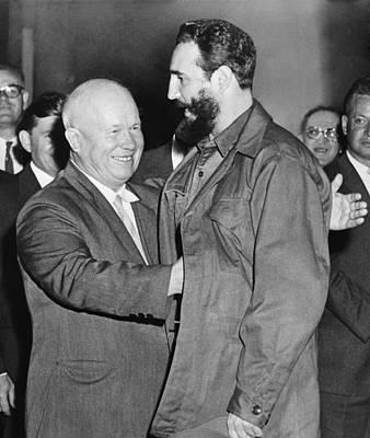 Nikita Photograph - Soviet Premier Nikita Khrushchev Greets by Everett