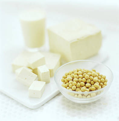 Soya Bean Products Print by David Munns