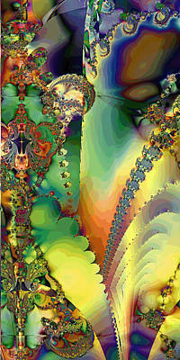 Colorful Abstract Digital Art - Space B Of B by Betsy Knapp