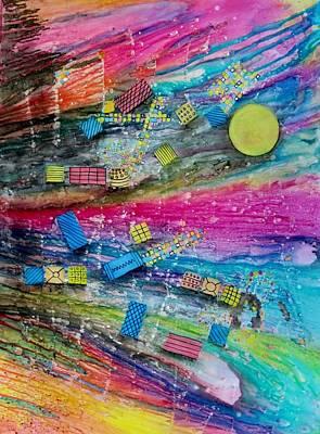 Representative Abstract Mixed Media - Space Junk by David Raderstorf