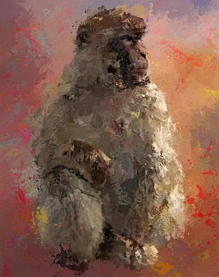 Space Monkey Print by Yury Malkov