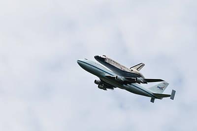 Space Shuttle Discovery Flyover Over The Washington D.c. Area  Original by Dasha Rosato