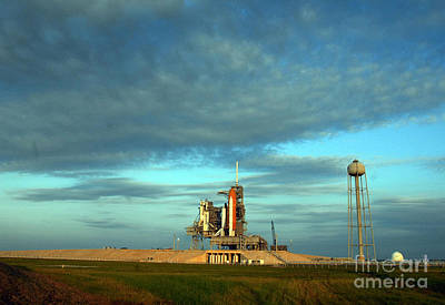 Space Shuttle Endeavor On Launch Pad Print by Nasa