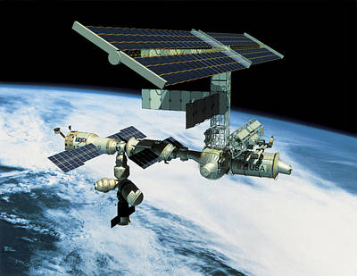 Space Station In Orbit Print by Stockbyte