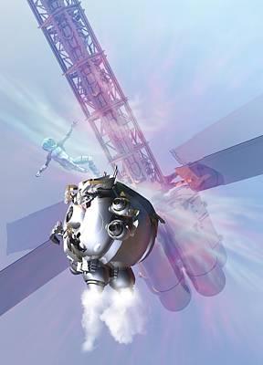 Building Exterior Digital Art - Spacewalk, Artwork by Victor Habbick Visions