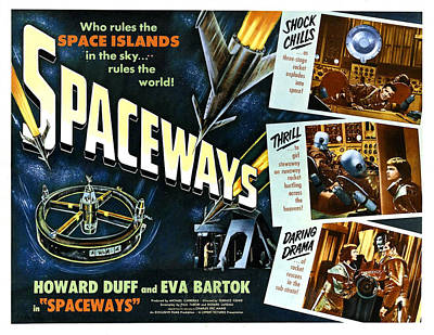 Spaceways, Howard Duff, Eva Bartok Print by Everett