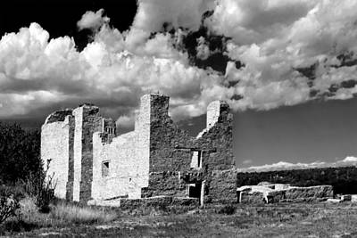 Spanish Mission Ruins Of Quarai Nm Print by Christine Till