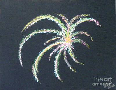 Patriotism Painting - Sparkler by Alys Caviness-Gober