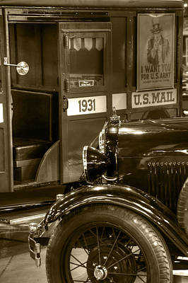 Special Delivery Trucks Sepia Print by Ken Smith